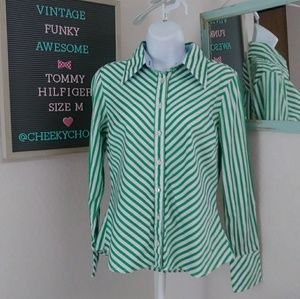 Tommy Hilfiger stripe button down diagonal fitted